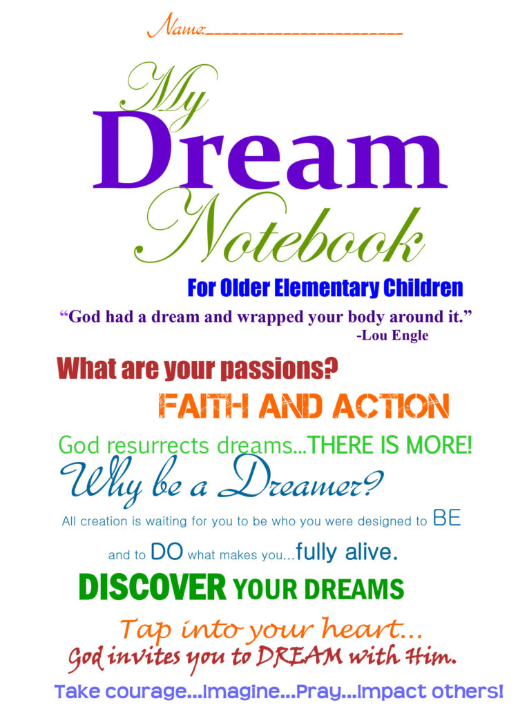 Dream Booklet for Older Elementary Children
